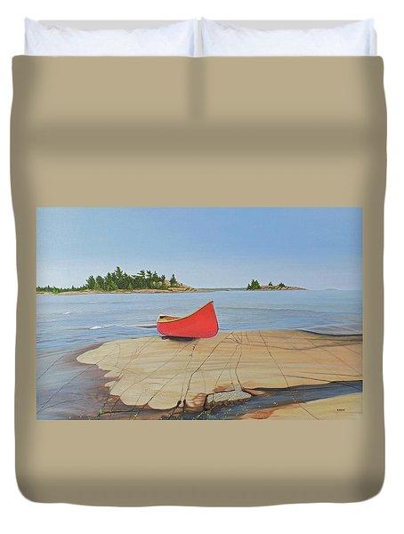 Killarney Canoe Duvet Cover
