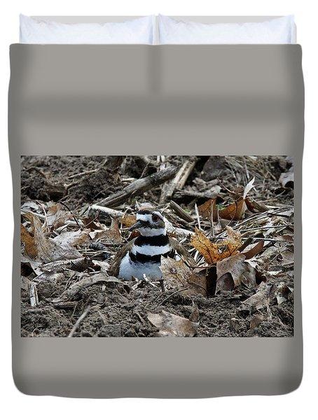 Killdeer On It's Nest 2682 Duvet Cover