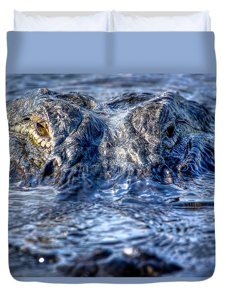 Duvet Cover featuring the photograph Killer Instinct by Mark Andrew Thomas