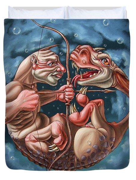 Killing The Dragon In Itself Duvet Cover