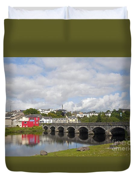Killorglin Bridge Duvet Cover by Cindy Murphy - NightVisions