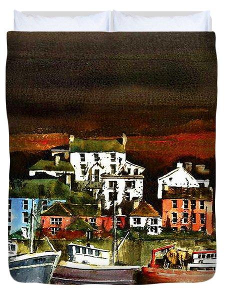 Killybegs Harbour, Donegal. Duvet Cover