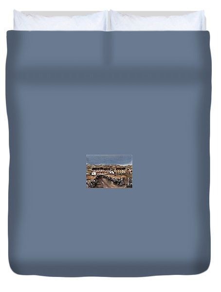 Kilmurvey Inishmore Aran Duvet Cover