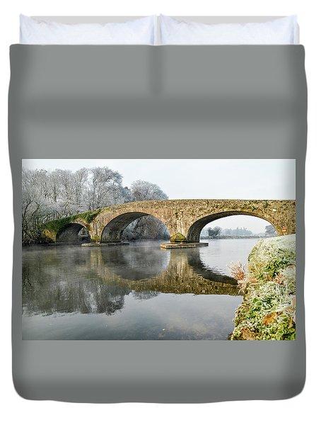 Kilsheelan Bridge In Winter  Duvet Cover