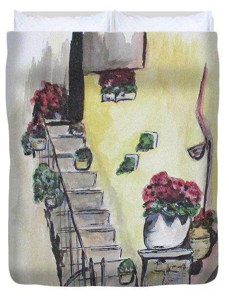 Kimberly's Castellabate Flowers Duvet Cover