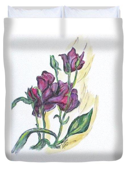 Kimberly's Spring Flower Duvet Cover by Clyde J Kell