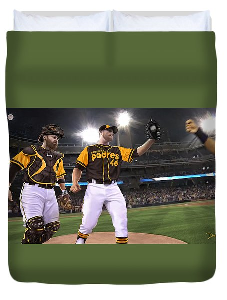 Kimbrel In Relief Duvet Cover