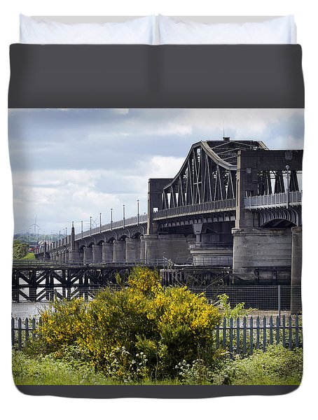 Duvet Cover featuring the photograph Kincardine Bridge by Jeremy Lavender Photography