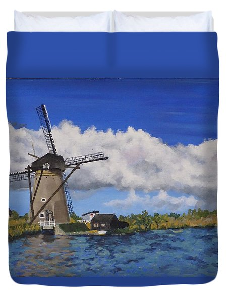 Kinderdijk Duvet Cover by Diane Arlitt