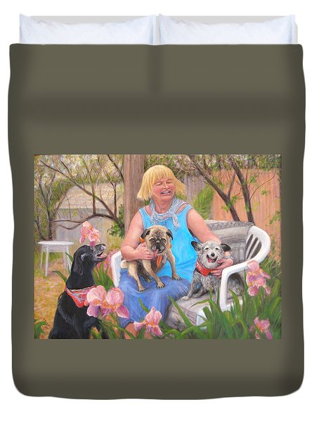 Duvet Cover featuring the painting Kindred Spirits by Donelli  DiMaria