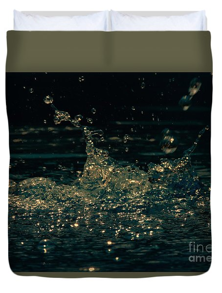Duvet Cover featuring the photograph Kinetic by Mim White