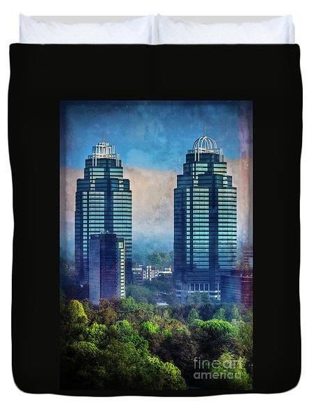 King And Queen Buildings Duvet Cover