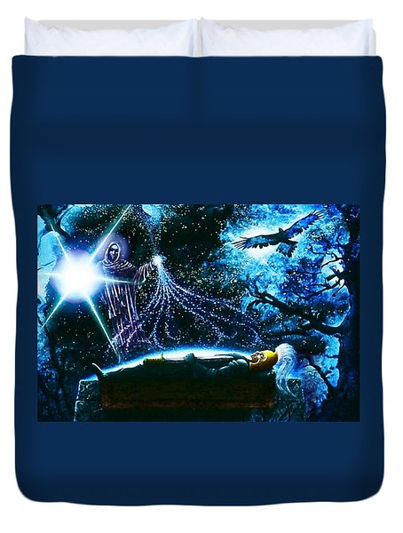 King  Arthur's Death Duvet Cover