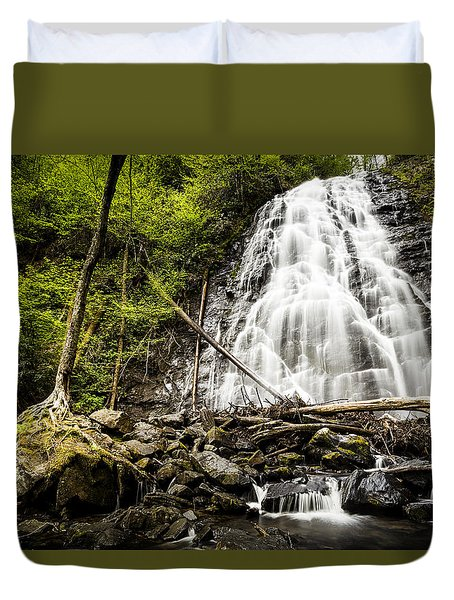Crabtree Falls - Blue Ridge Parkway North Carolina Duvet Cover