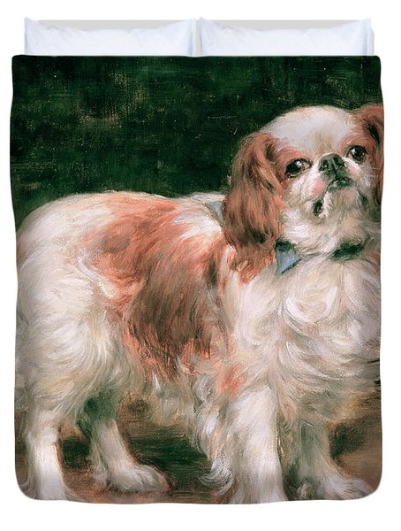 King Charles Spaniel Duvet Cover by George Sheridan Knowles