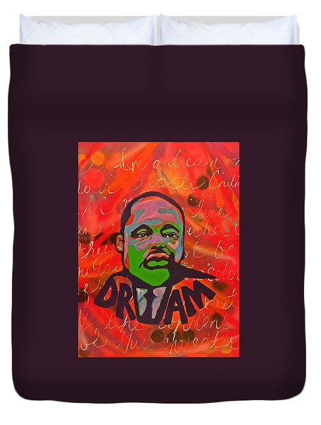 King Dreaming Duvet Cover by Miriam Moran