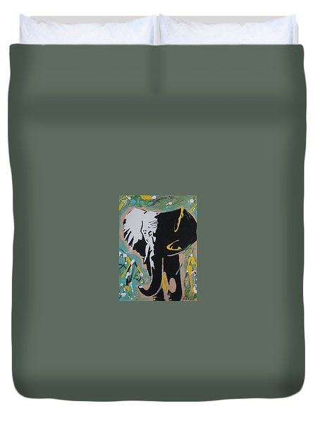 King Elephant Duvet Cover