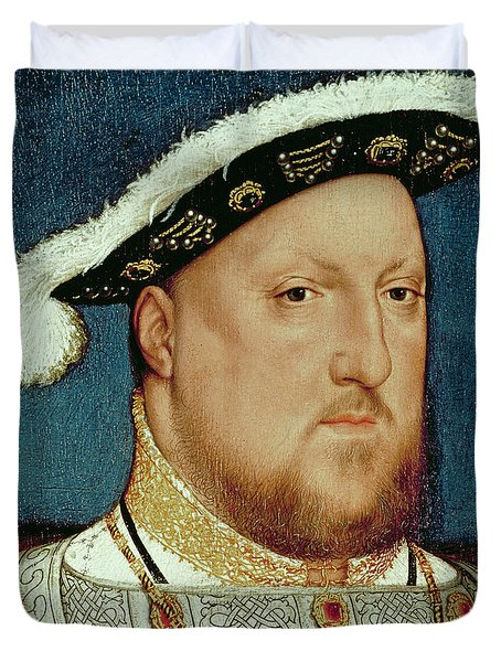 King Henry Viii Duvet Cover by Hans Holbein the Younger