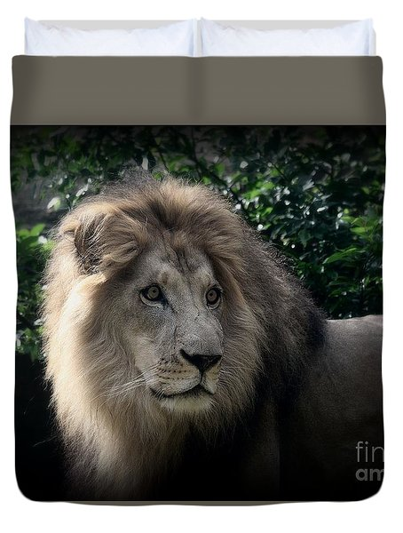 Duvet Cover featuring the photograph King Kamau by Lisa L Silva
