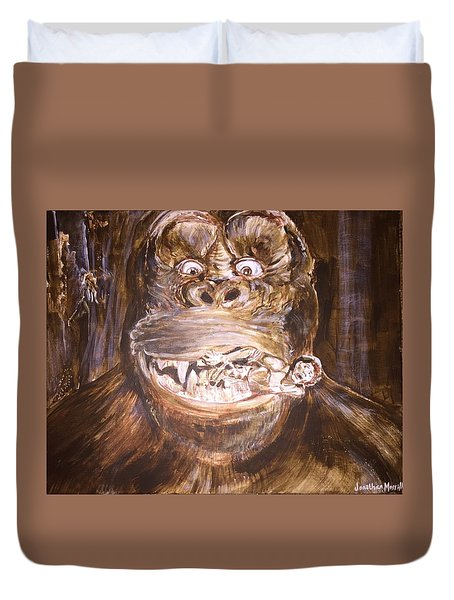 King Kong - Deleted Scene - Kong With Native Duvet Cover