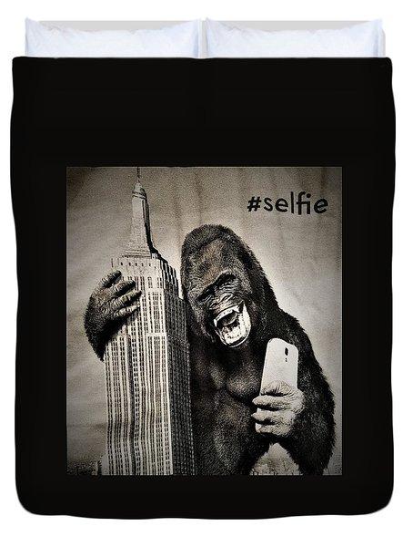 King Kong Selfie Duvet Cover