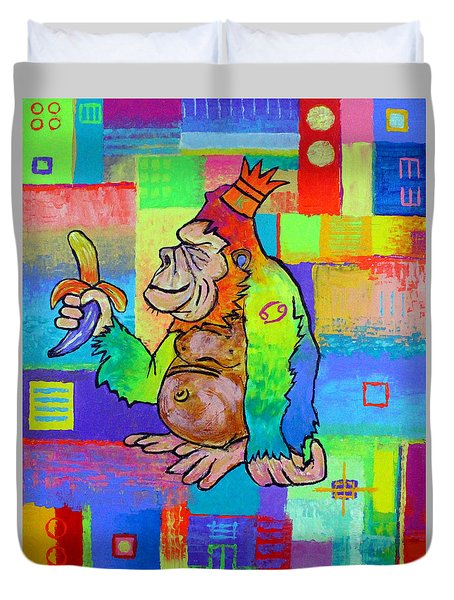 King Konrad The Monkey Duvet Cover