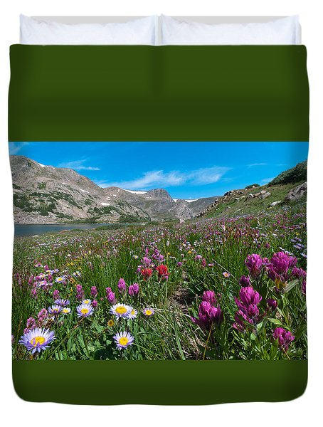 King Lake Summer Landscape Duvet Cover