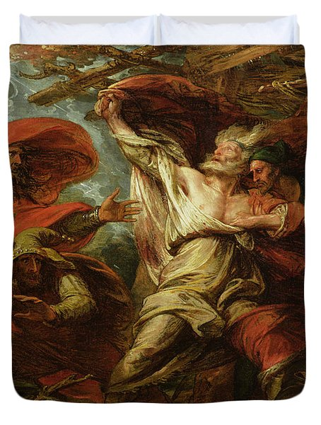 King Lear Duvet Cover by Benjamin West