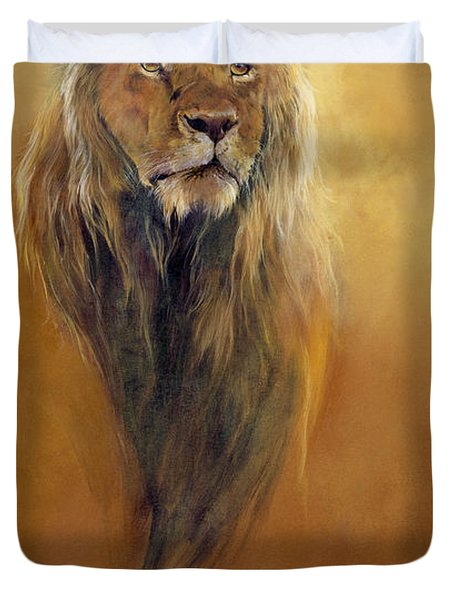 King Leo Duvet Cover by Odile Kidd