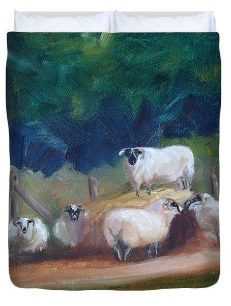 King Of Green Hill Farm Duvet Cover by Donna Tuten