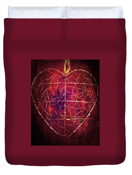Duvet Cover featuring the photograph King Of Hearts by Linda Sannuti