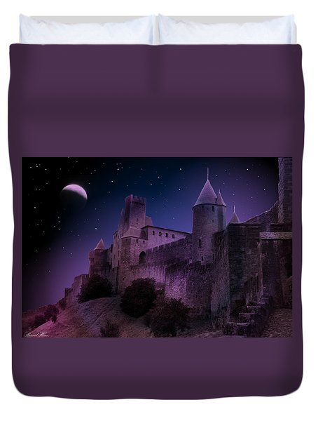 Duvet Cover featuring the photograph King Of My Castle by Bernd Hau