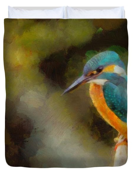 King Of The Fishers By Pierre Blanchard Duvet Cover