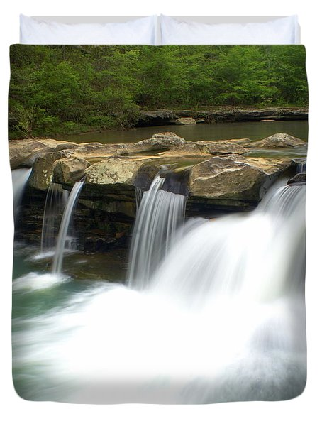 King River Falls Duvet Cover by Marty Koch