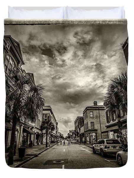 King St. Storm Clouds Charleston Sc Duvet Cover