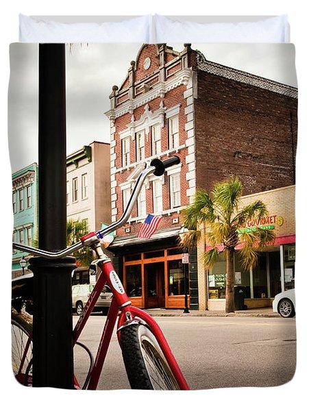 King Street Charleston Sc  -7436 Duvet Cover