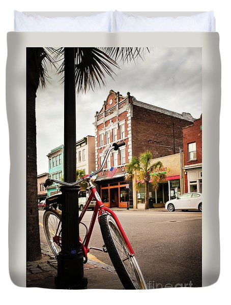 King Street Charleston Sc  -7436 Duvet Cover