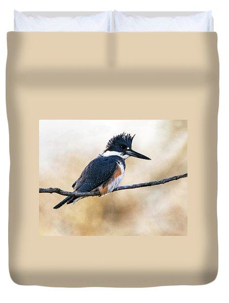 Kingfisher Listens Duvet Cover