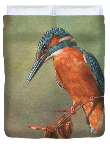 Kingfisher Perched Duvet Cover