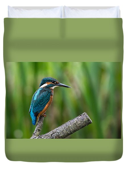 Kingfisher Pose Duvet Cover