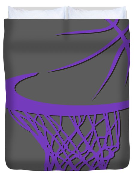 Kings Basketball Hoop Duvet Cover
