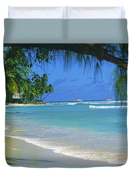 King's Beach, Barbados Duvet Cover