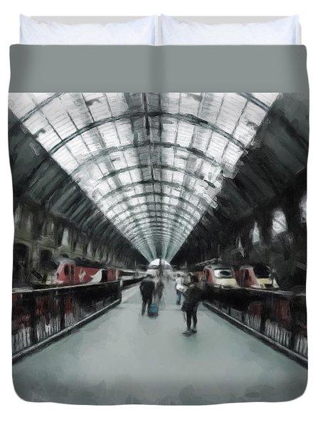 Kings Cross London Duvet Cover by Gillian Dernie