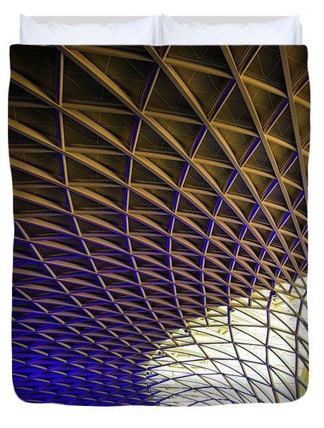 Kings Cross Railway Station Roof Duvet Cover