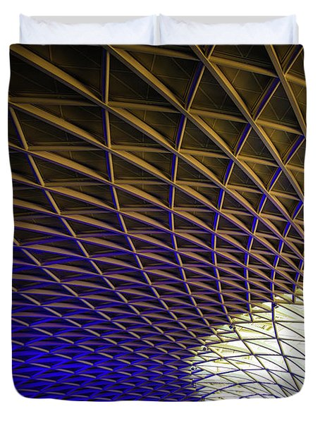 Kings Cross Railway Station Roof Duvet Cover