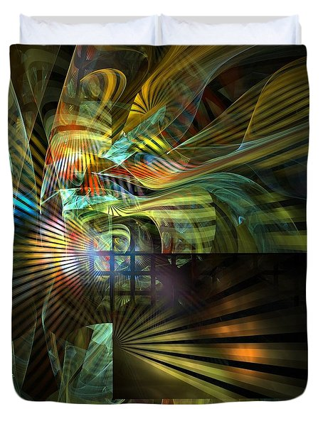 Duvet Cover featuring the digital art Kings Ransom by NirvanaBlues