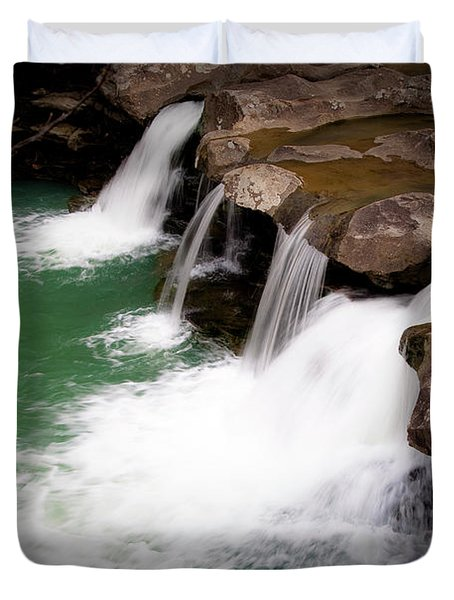 Kings River Falls Duvet Cover by Tamyra Ayles