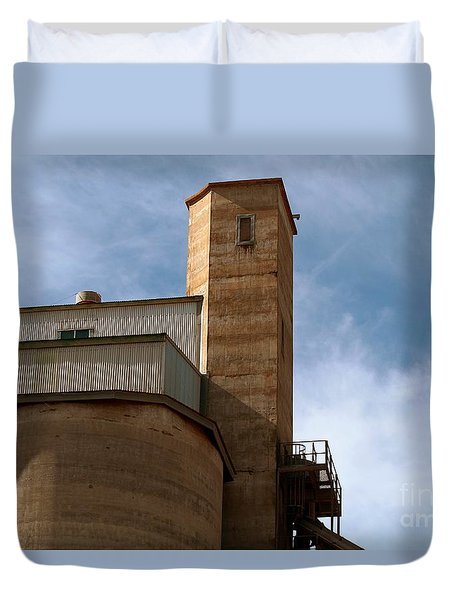 Duvet Cover featuring the photograph Kingscote Castle by Stephen Mitchell