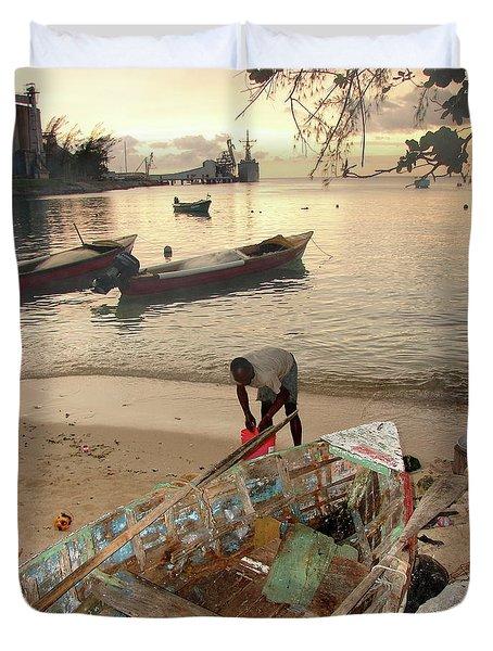 Kingston Jamaica Beach Duvet Cover