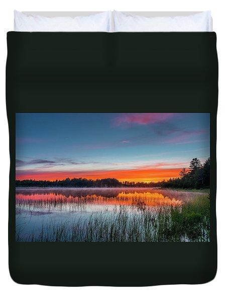 Kingston Lake Sunset Duvet Cover
